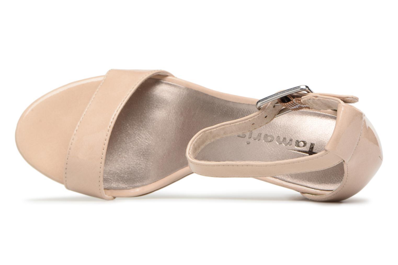 Sandales et nu-pieds Tamaris Alliaire Beige vue gauche
