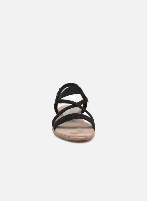 Sandales et nu-pieds Tamaris Aurone Noir vue portées chaussures