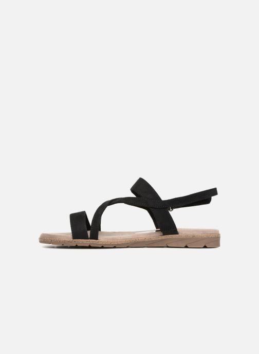 Sandales et nu-pieds Tamaris Aurone Noir vue face