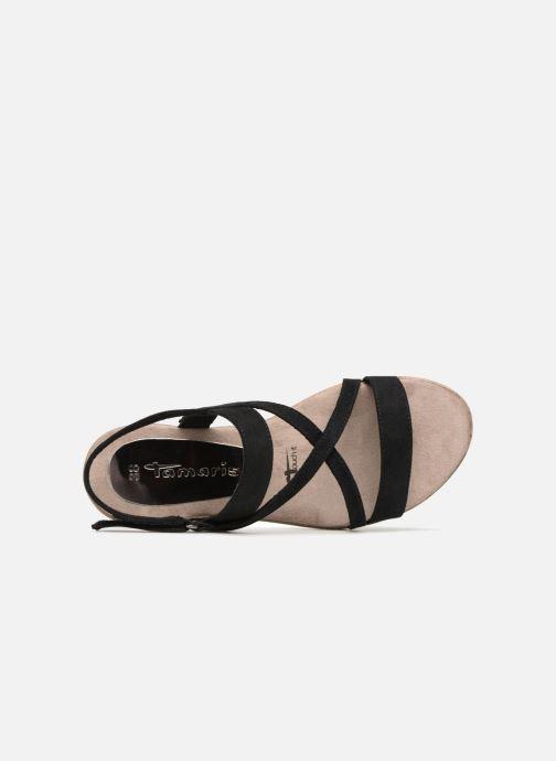 Sandales et nu-pieds Tamaris Aurone Noir vue gauche