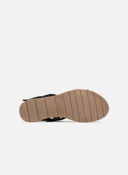 Sandales et nu-pieds Tamaris Aurone Noir vue haut