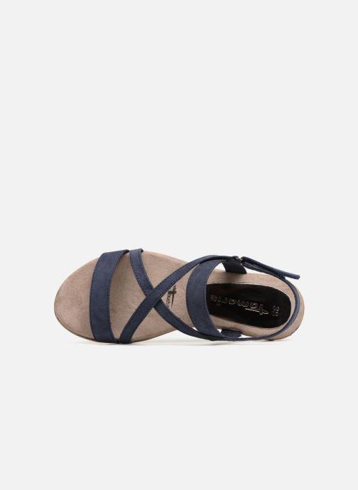 Sandales et nu-pieds Tamaris Aurone Bleu vue gauche