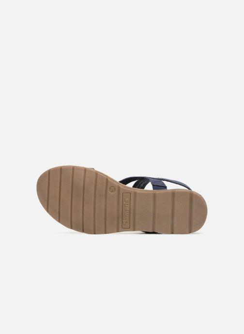 Sandales et nu-pieds Tamaris Aurone Bleu vue haut