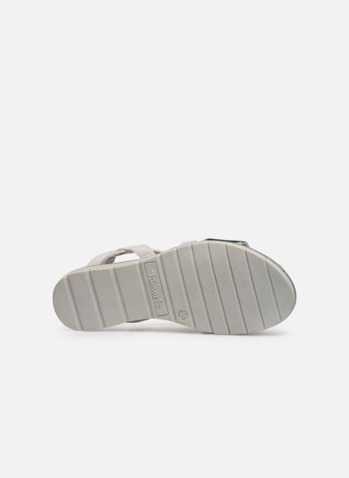 Sandales et nu-pieds Tamaris Aurone Gris vue haut