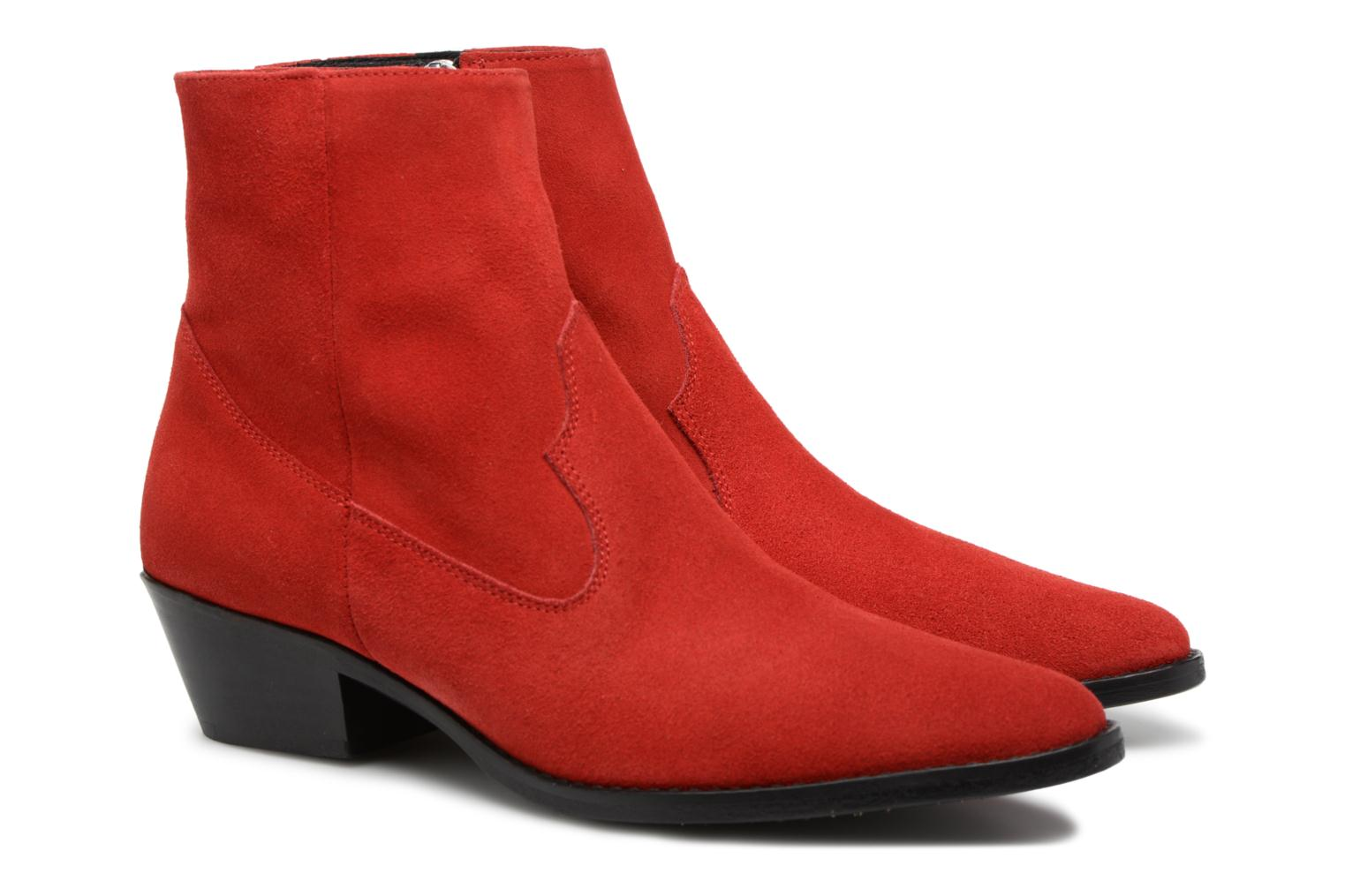 Ankle boots Valentine Gauthier Keith Red 3/4 view