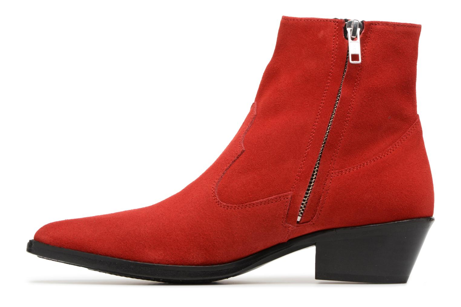 Ankle boots Valentine Gauthier Keith Red front view