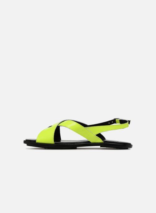 Sandales et nu-pieds Valentine Gauthier Houston Jaune vue face
