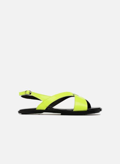 Sandales et nu-pieds Valentine Gauthier Houston Jaune vue derrière