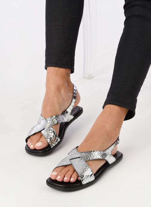 Sandales et nu-pieds Valentine Gauthier Houston Argent vue bas / vue portée sac