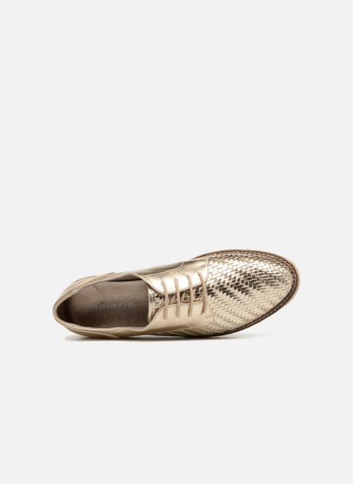 Chaussures à lacets Tamaris Bardane Or et bronze vue gauche