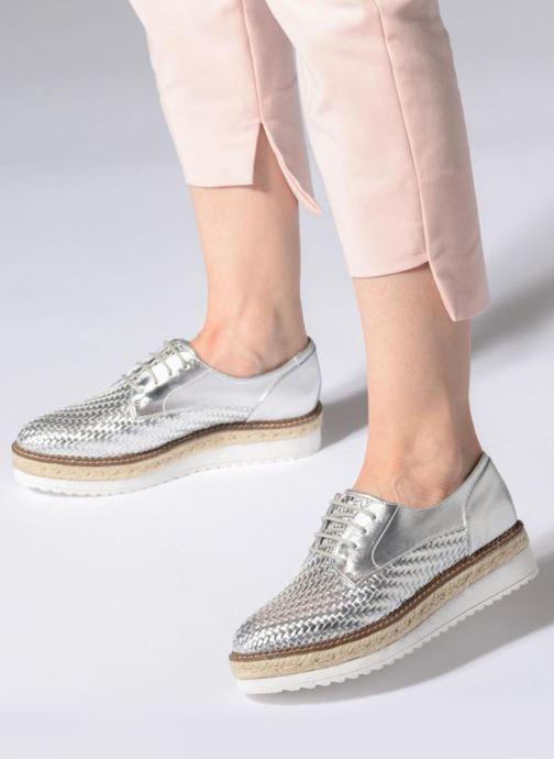 Chaussures à lacets Tamaris Ceres Argent vue bas / vue portée sac