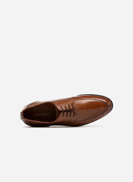 Zapatos con cordones Marvin&Co Nottinghill Marrón vista lateral izquierda