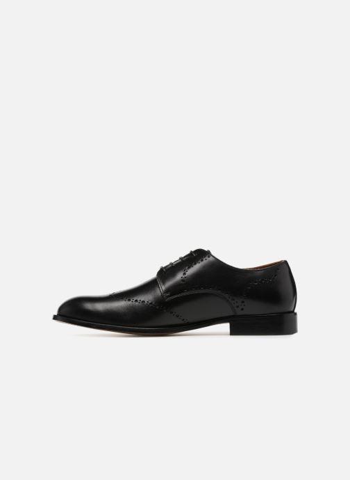 Schnürschuhe Marvin&Co Newnaust schwarz ansicht von vorne