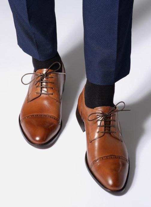 Chaussures à lacets Marvin&Co Nudge Marron vue bas / vue portée sac