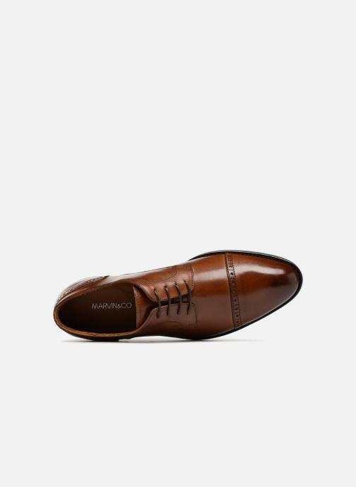 Zapatos con cordones Marvin&Co Nudge Marrón vista lateral izquierda