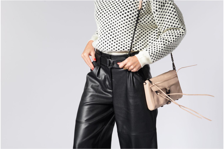 Handtaschen Rebecca Minkoff LEATHER HANDBAG HF24MFCX01 MINI MAC rosa ansicht von oben