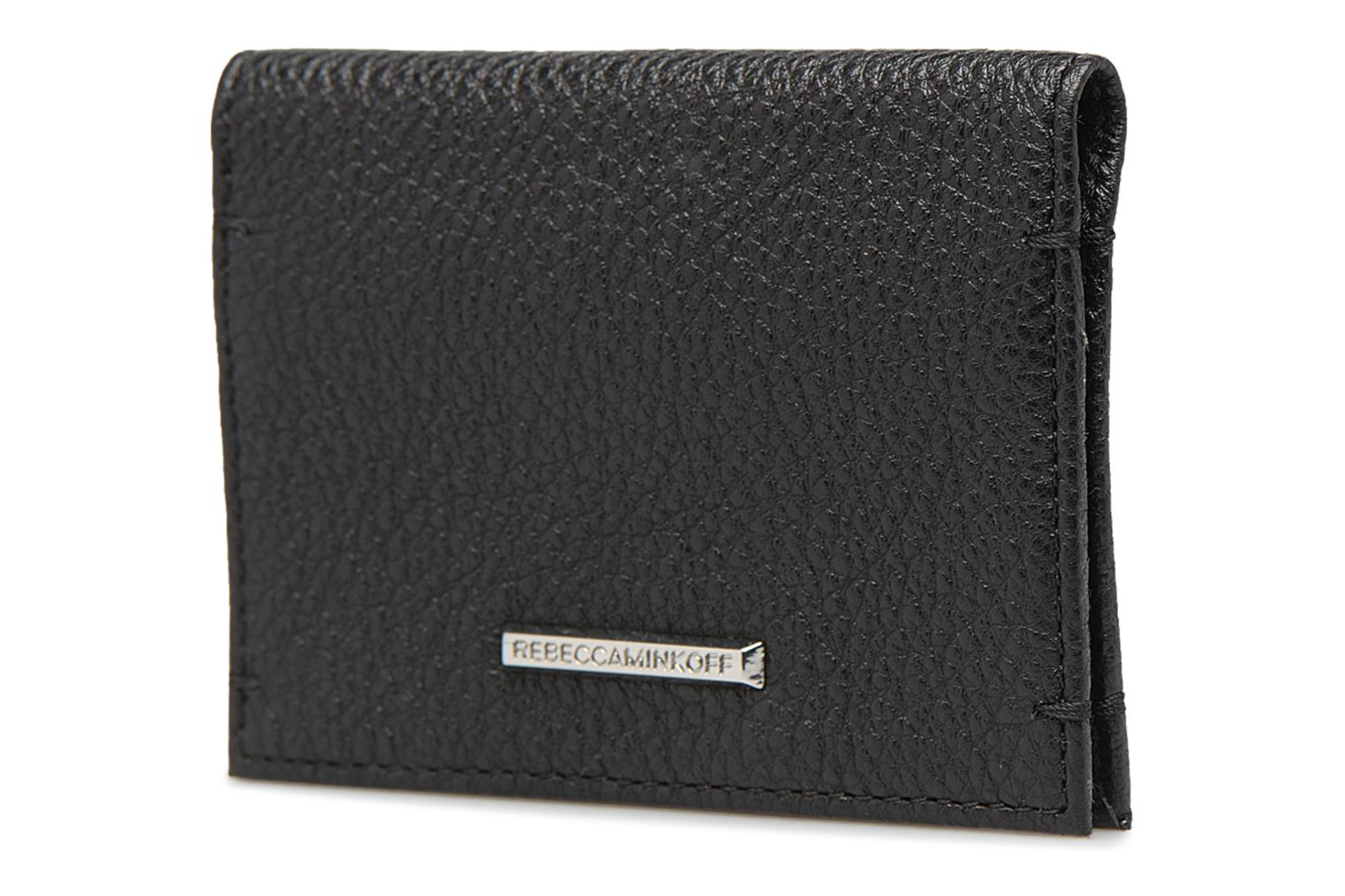Kleine lederwaren Rebecca Minkoff REGAN CARD CASE Zwart rechts