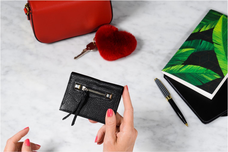 Portemonnaies & Clutches Rebecca Minkoff REGAN CARD CASE schwarz ansicht von oben