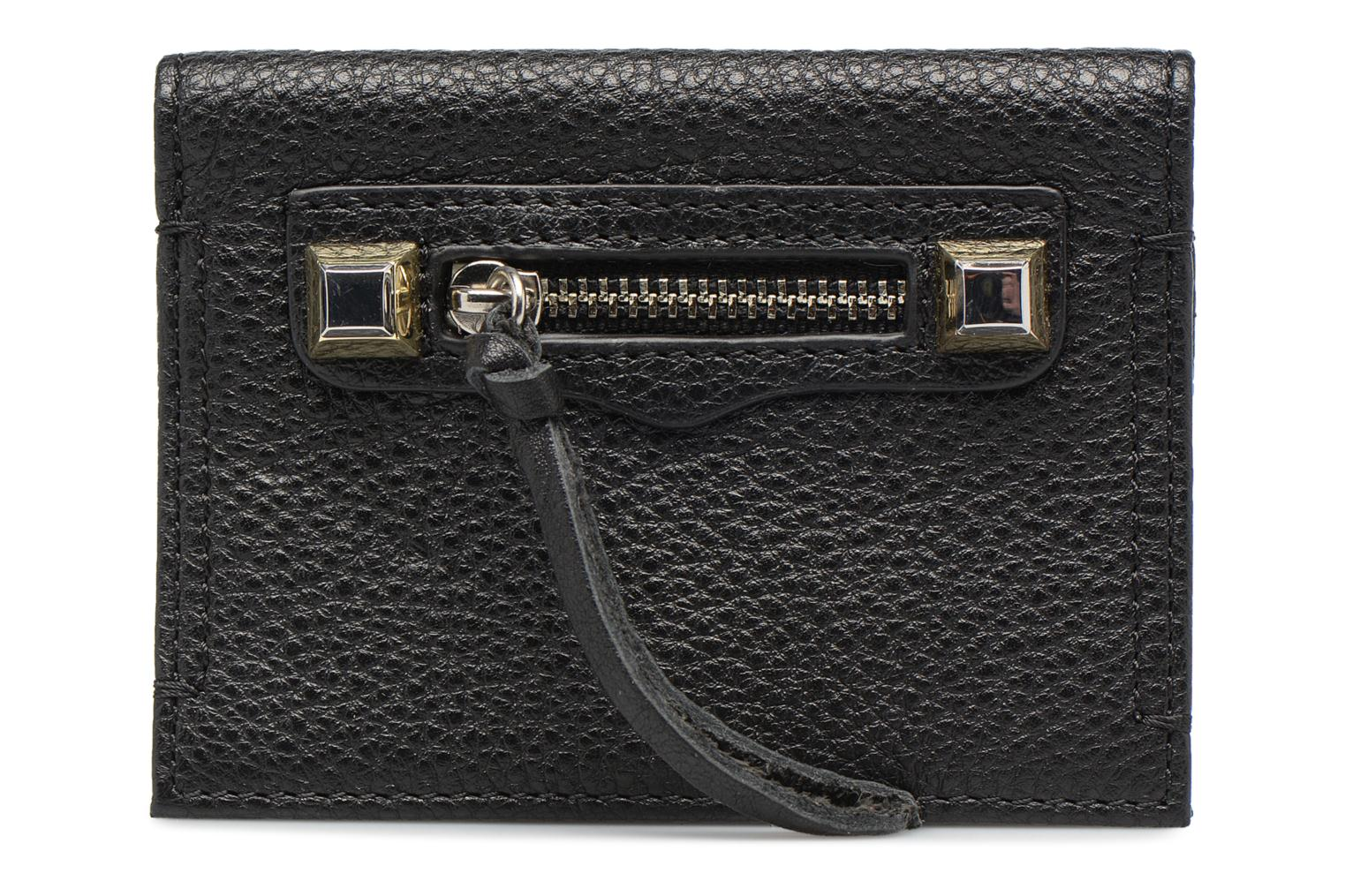 Kleine lederwaren Rebecca Minkoff REGAN CARD CASE Zwart detail