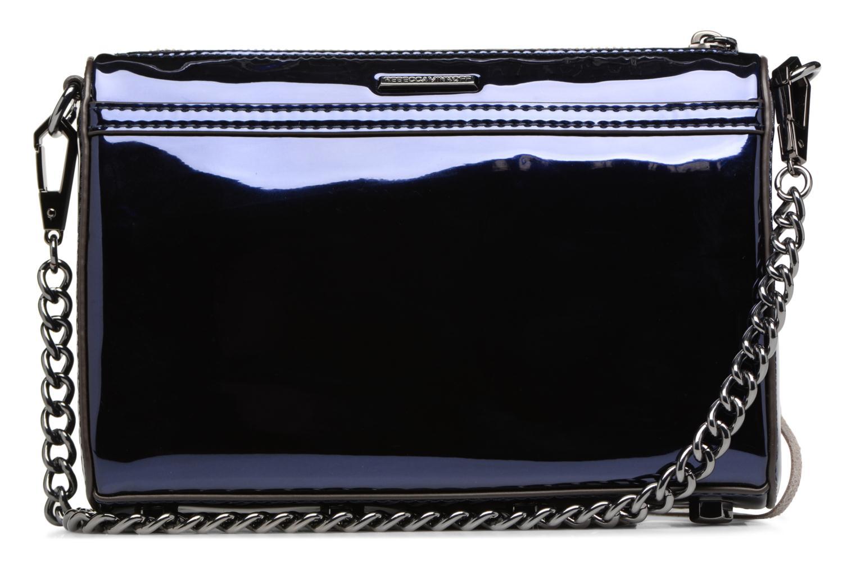 Handtaschen Rebecca Minkoff MIRRORED METALLIC MINI MAC blau ansicht von vorne