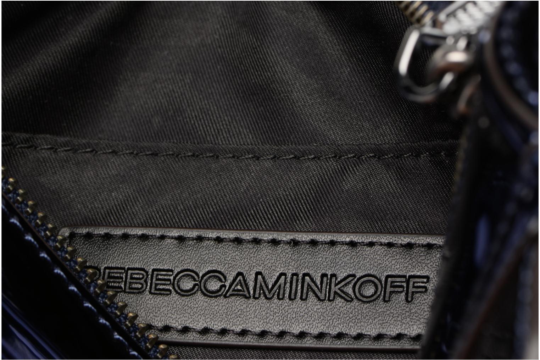 Handtaschen Rebecca Minkoff MIRRORED METALLIC MINI MAC blau ansicht von hinten