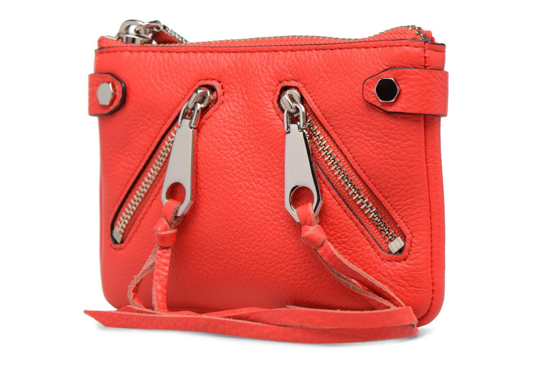 Handtaschen Rebecca Minkoff MOTO POUCH rot schuhe getragen
