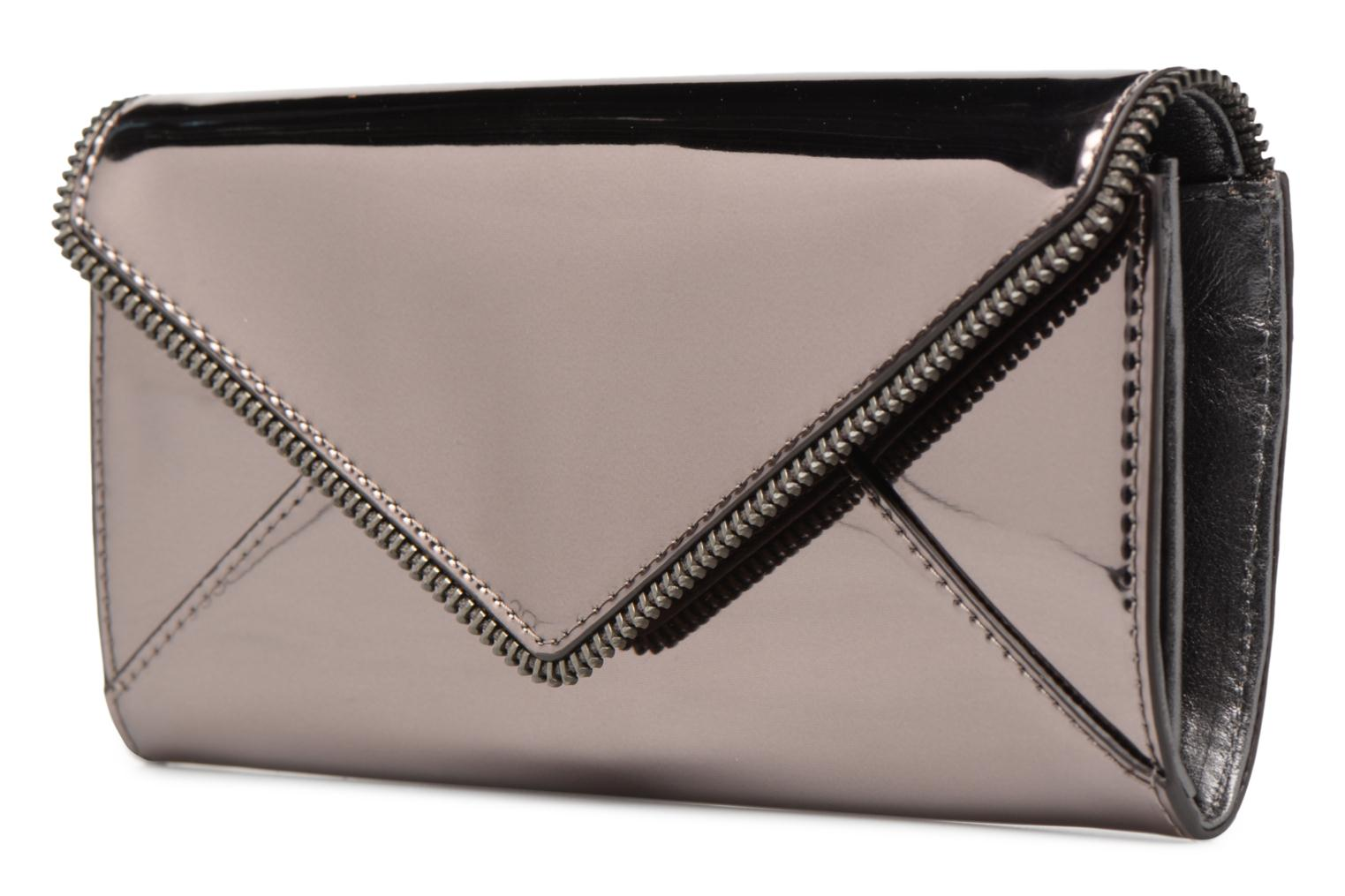 Kleine lederwaren Rebecca Minkoff METALLIC LARGE WALLET Grijs model