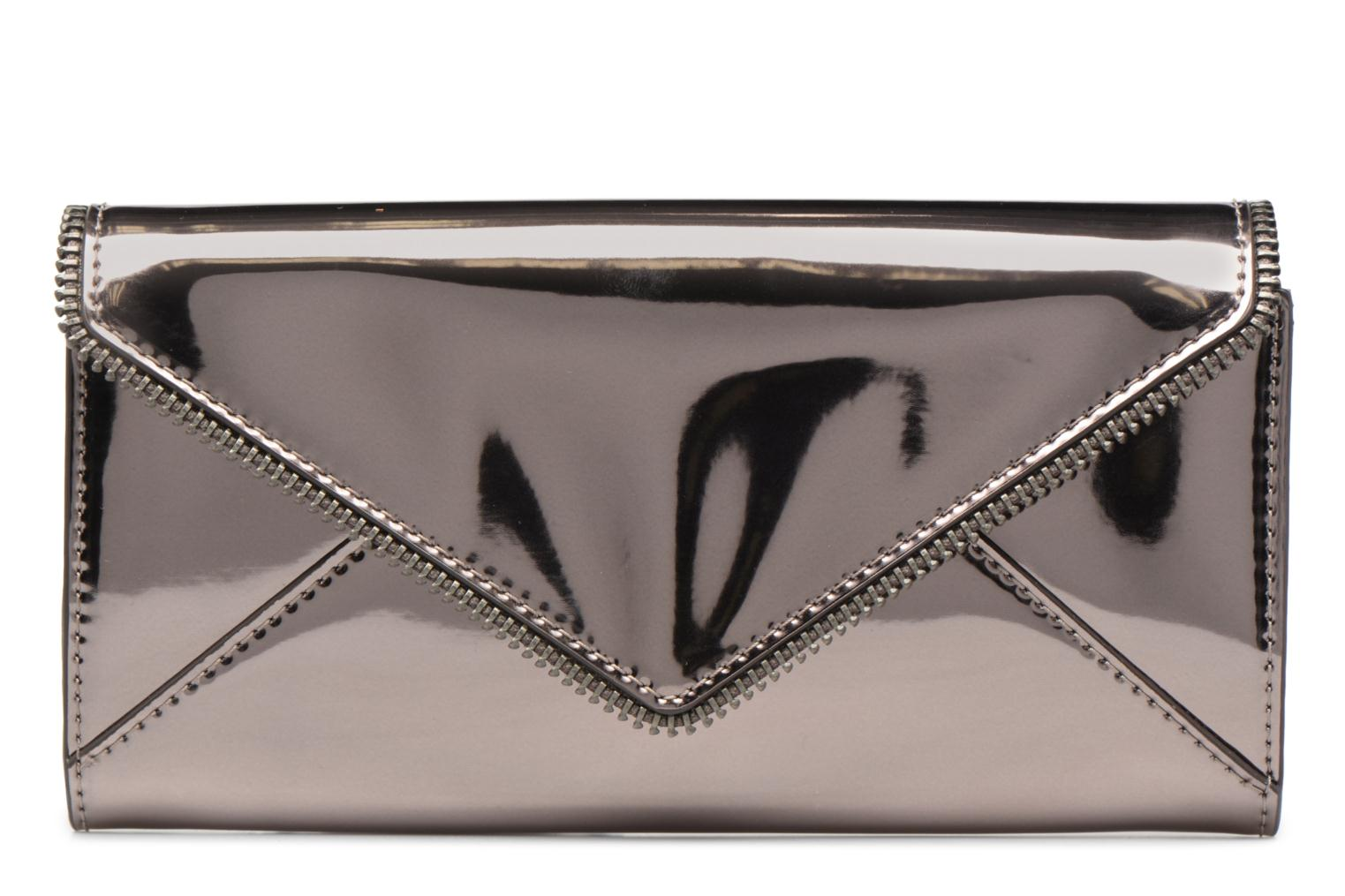Kleine lederwaren Rebecca Minkoff METALLIC LARGE WALLET Grijs detail