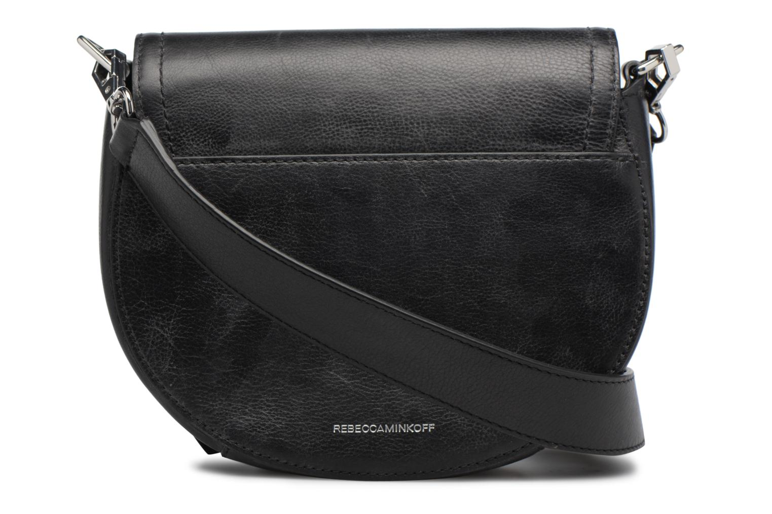 Sacs à main Rebecca Minkoff MEDIUM PARIS SADDLE BAG Noir vue face