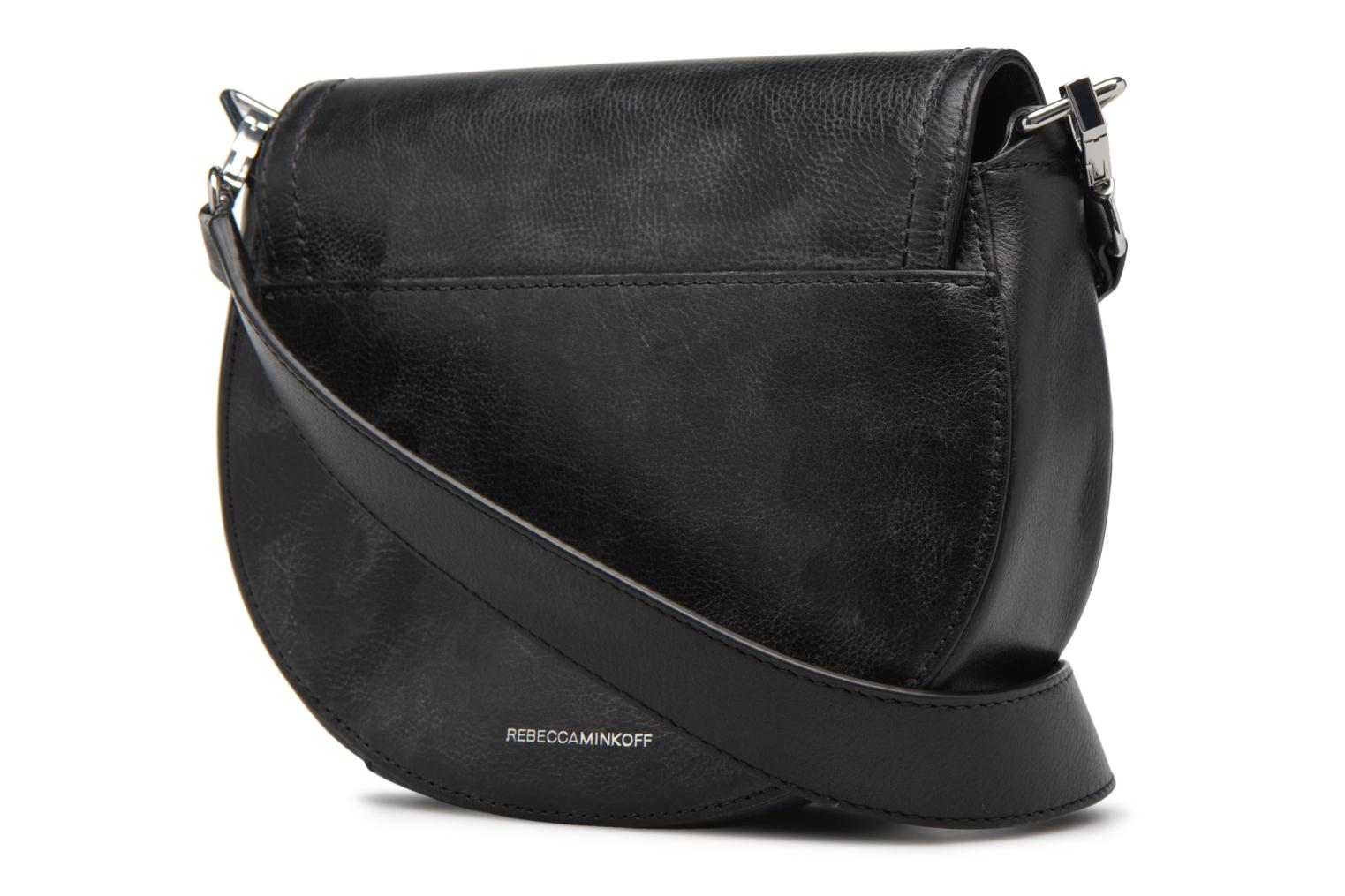 Sacs à main Rebecca Minkoff MEDIUM PARIS SADDLE BAG Noir vue droite