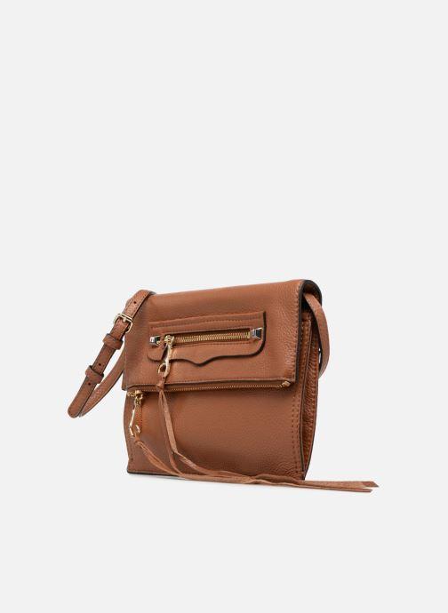 Bolsos de mano Rebecca Minkoff SMALL REGAN CLUTCH Marrón vista del modelo