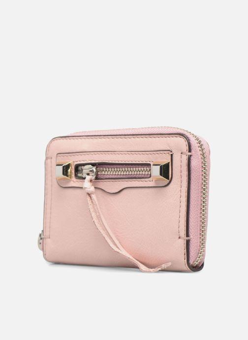 Wallets & cases Rebecca Minkoff MINI REGAN ZIP WALLET Pink model view
