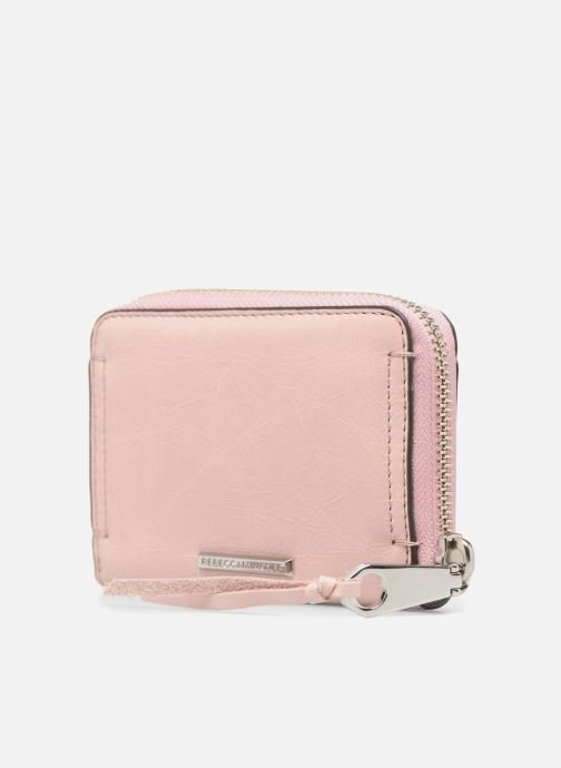 Wallets & cases Rebecca Minkoff MINI REGAN ZIP WALLET Pink view from the right