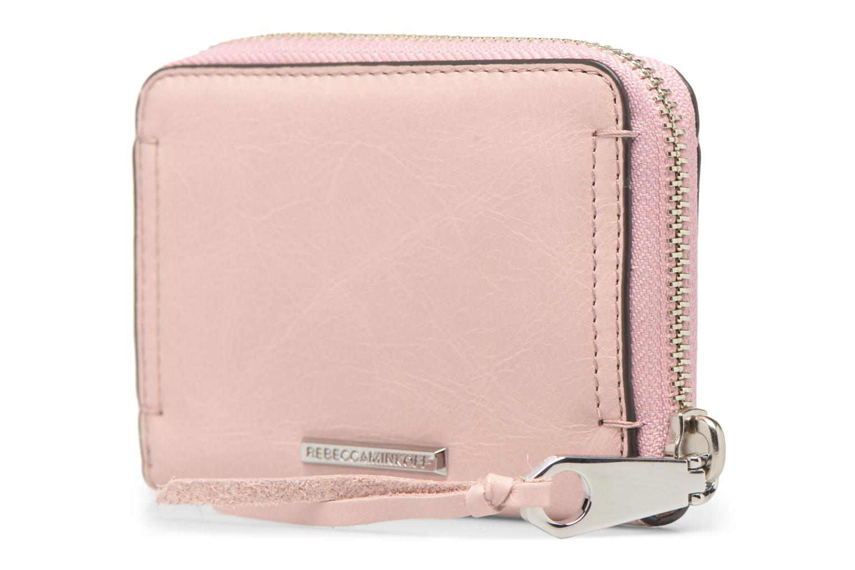 Portemonnaies & Clutches Rebecca Minkoff MINI REGAN ZIP WALLET rosa ansicht von rechts