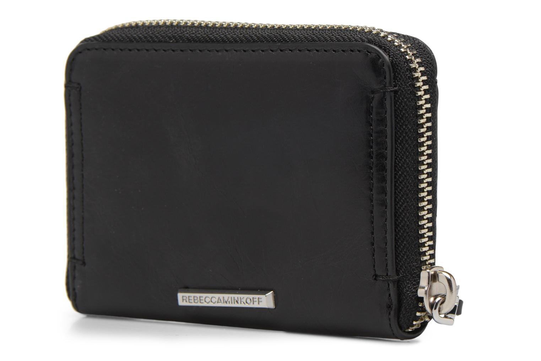 Portemonnaies & Clutches Rebecca Minkoff MINI REGAN ZIP WALLET schwarz ansicht von rechts