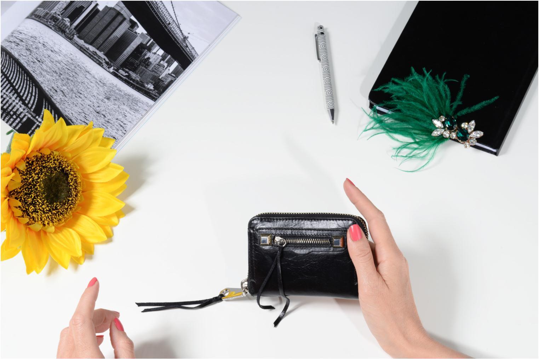 Portemonnaies & Clutches Rebecca Minkoff MINI REGAN ZIP WALLET schwarz ansicht von oben
