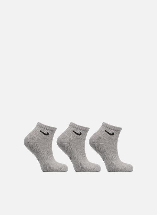 Chaussettes et collants Nike Kids' Nike Performance Cushioned Quarter Training Socks 3PR Gris vue détail/paire