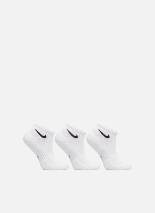 Chaussettes et collants Nike Kids' Nike Performance Cushioned Quarter Training Socks 3PR Blanc vue détail/paire