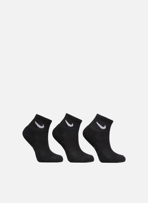 Chaussettes et collants Nike Kids' Nike Performance Cushioned Quarter Training Socks 3PR Noir vue détail/paire