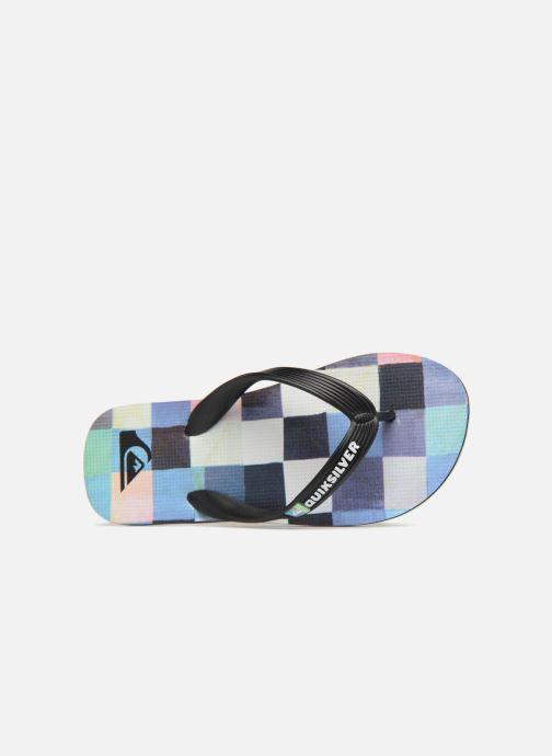 Tongs Quiksilver Molokai Resin Check Youth Multicolore vue gauche