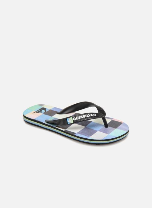 Tongs Quiksilver Molokai Resin Check Youth Multicolore vue détail/paire