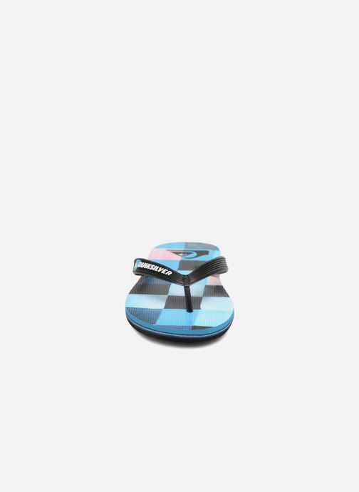 Tongs Quiksilver Molokai Resin Check Youth Multicolore vue portées chaussures