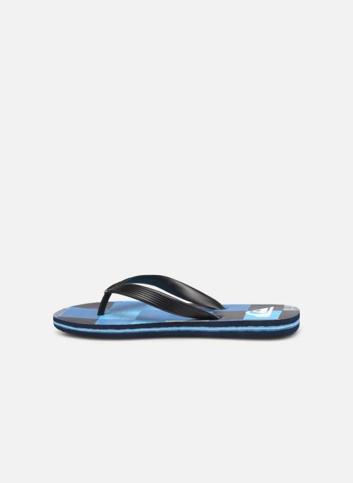 Tongs Quiksilver Molokai Resin Check Youth Bleu vue face