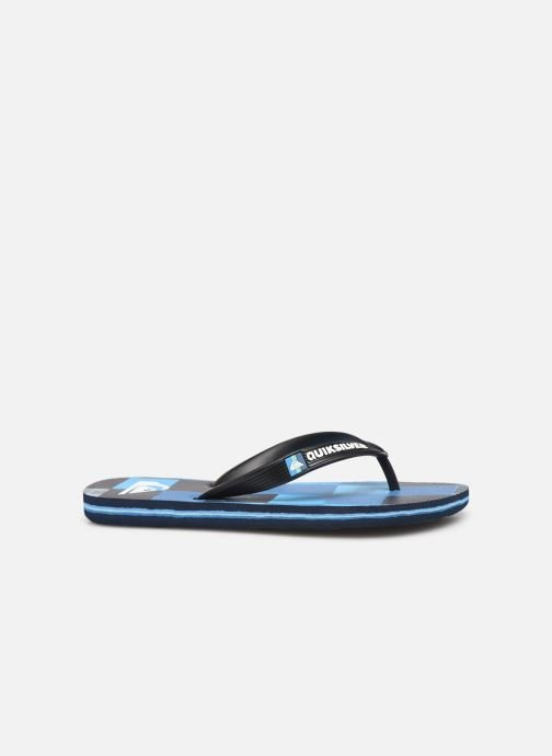 Flip flops Quiksilver Molokai Resin Check Youth Blue back view