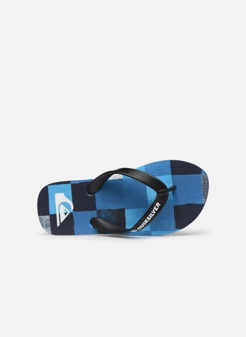 Tongs Quiksilver Molokai Resin Check Youth Bleu vue gauche