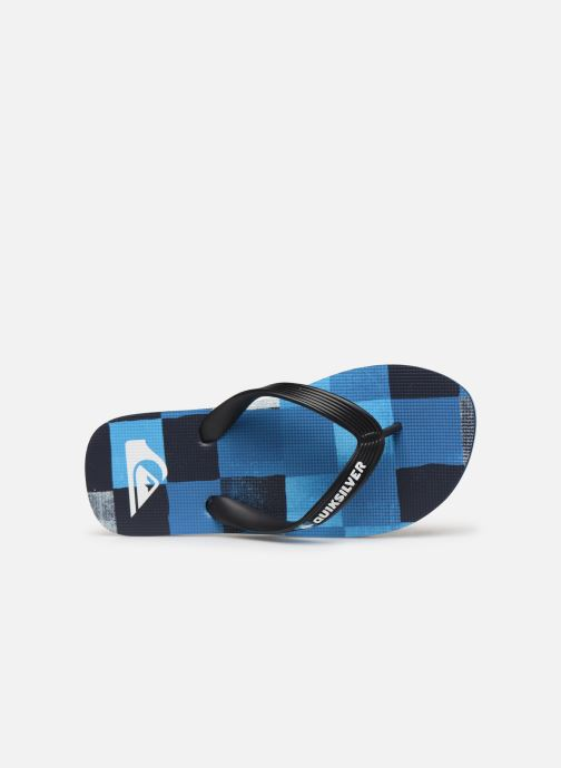 Flip flops Quiksilver Molokai Resin Check Youth Blue view from the left