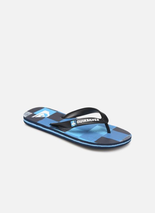 Tongs Quiksilver Molokai Resin Check Youth Bleu vue détail/paire