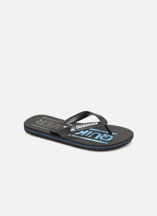Flip flops Quiksilver Molokai Wordmark Youth Black detailed view/ Pair view
