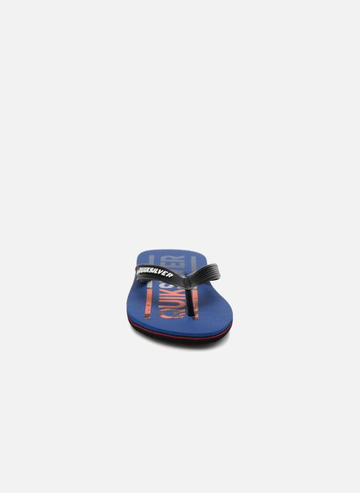 Infradito Quiksilver Molokai Wordmark Youth Azzurro modello indossato