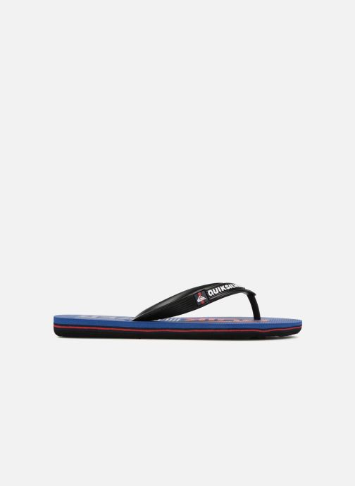 Flip flops Quiksilver Molokai Wordmark Youth Blue back view